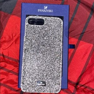 iPhone 7/8 plus Swarovski silver case